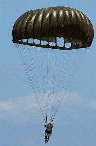 Paratrooper with Parachute